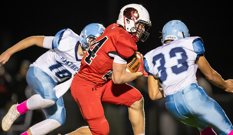 Colton Dean weaves through the Panthers defense