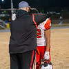 Cocah Coleman hugs Jamarcus Davis after the game
