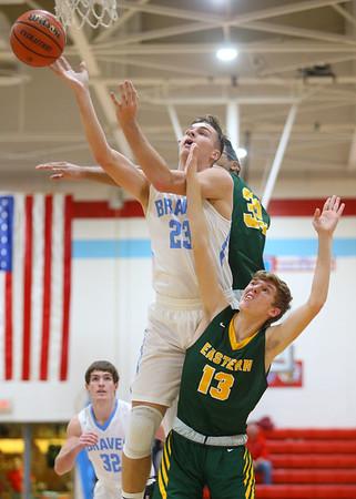 1-3-19<br /> Maconaquah vs Eastern boys basketball<br /> Mac's Cole Borden shoots.<br /> Kelly Lafferty Gerber   Kokomo Tribune