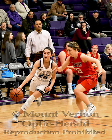 Mount Vernon Varsity Lady Tigers vs Chisum Lady Mustangs Basketball game