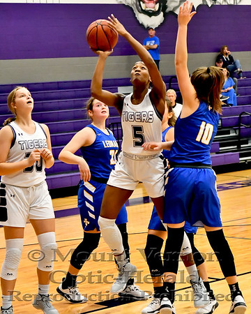 Mount Vernon Varsity Lady Tigers vs Lenord Lady Tigers Basketball game
