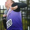 Northwestern's Evan Gaylor in the shot put.<br /> Kelly Lafferty Gerber | Kokomo Tribune