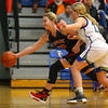 11-22-19<br /> Tri Central vs Taylor girls basketball<br /> Taylor's Ashlen Kropczynski tries to save the ball before it goes out of bounds.<br /> Kelly Lafferty Gerber | Kokomo Tribune