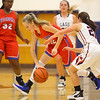 11-20-19<br /> Cass vs Kokomo girls basketball<br /> Kokomo's Brooke Hughes tries to maintain control of the ball.<br /> Kelly Lafferty Gerber | Kokomo Tribune