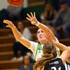 11-7-19<br /> Eastern vs Western girls basketball<br /> Eastern's McKenzie Cooper throws a pass.<br /> Kelly Lafferty Gerber | Kokomo Tribune