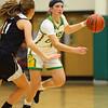 11-7-19<br /> Eastern vs Western girls basketball<br /> Eastern's McKenzie Cooper dribbles down the court.<br /> Kelly Lafferty Gerber | Kokomo Tribune