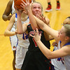 11-13-19<br /> Taylor vs Kokomo girls basketball<br /> Taylor's Emma Good is fouled as she goes up for a shot.<br /> Kelly Lafferty Gerber | Kokomo Tribune