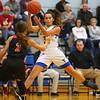 11-22-19<br /> Tri Central vs Taylor girls basketball<br /> TC's Brooklyn Temple tosses a pass.<br /> Kelly Lafferty Gerber | Kokomo Tribune