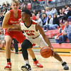 11-27-19<br /> Taylor vs Frankton boys basketball<br /> Taylor's Damarion Brent drives to the basket.<br /> Kelly Lafferty Gerber | Kokomo Tribune