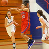 11-20-19<br /> Cass vs Kokomo girls basketball<br /> Kokomo's Jada-Claire Broomfield tosses a pass.<br /> Kelly Lafferty Gerber | Kokomo Tribune