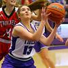 Sarah Heaver puts up the first 2 pointer as Northwestern girls defeated Twin Lakes 80-28 on Saturday Nov. 9, 2019.<br /> Tim Bath | Kokomo Tribune