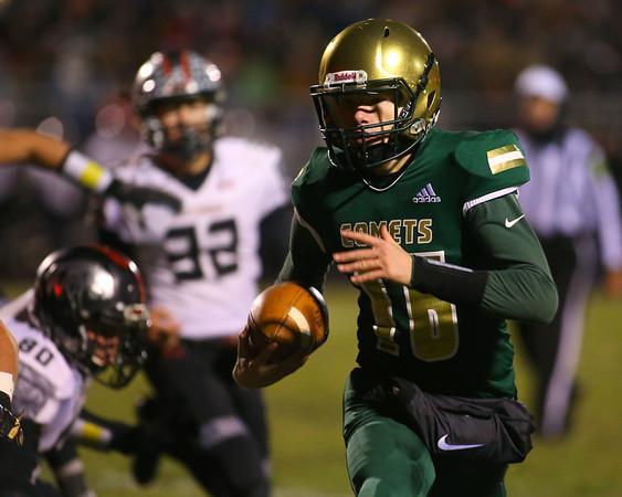 11-8-19<br /> Eastern vs Eastbrook sectional football championship<br /> Nolan Grubb runs the ball.<br /> Kelly Lafferty Gerber | Kokomo Tribune