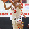 11-27-19<br /> Taylor vs Frankton boys basketball<br /> Taylor's Jaylen Harris puts up a shot.<br /> Kelly Lafferty Gerber | Kokomo Tribune
