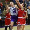 Klair Merrell is shooting in the first half as Northwestern girls defeated Twin Lakes 80-28 on Saturday Nov. 9, 2019.<br /> Tim Bath | Kokomo Tribune