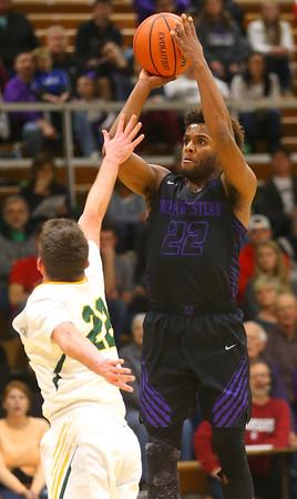 11-30-19<br /> Northwestern vs Eastern boys basketball<br /> NW's Tayson Parker puts up a shot.<br /> Kelly Lafferty Gerber | Kokomo Tribune