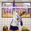 10-1-19<br /> Northwestern vs Western volleyball<br /> NW's Madison Layden goes for the kill.<br /> Kelly Lafferty Gerber | Kokomo Tribune