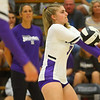 10-1-19<br /> Northwestern vs Western volleyball<br /> NW's Emma Byrum digs the ball.<br /> Kelly Lafferty Gerber | Kokomo Tribune