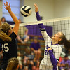 10-1-19<br /> Northwestern vs Western volleyball<br /> NW's Leah Carter goes for the kill.<br /> Kelly Lafferty Gerber | Kokomo Tribune