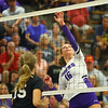 10-1-19<br /> Northwestern vs Western volleyball<br /> NW's Lexi Robinson puts the ball over the net.<br /> Kelly Lafferty Gerber | Kokomo Tribune