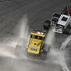 Don Knight | The Herald Bulletin<br /> Ricky McCune drives through water on the track after Tyler Roahrig hit water barrels in turn 4 during the Payless Little 500 on Saturday.