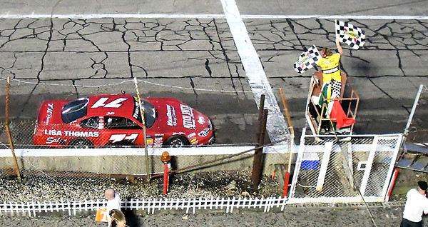 John P. Cleary | The Herald Bulletin<br /> 53rd annual Redbud 400 at Anderson Speedway. Johnny VanDoorn takes the double-checkered flags for his third Redbud 400 victory.