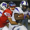 9-27-19<br /> Kokomo vs Muncie Central football<br /> Kokomo's Tre' Hizer takes down Muncie Central's Shoka Griffin.<br /> Kelly Lafferty Gerber | Kokomo Tribune
