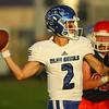 9-13-19<br /> Cass vs Tipton football<br /> Tipton's Sam Edwards looks for a pass.<br /> Kelly Lafferty Gerber | Kokomo Tribune