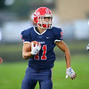 Caleb Zeck running back the first kickoff for a touchdown as Lewis Cass High School football defeated Benton Central 68-0 on Sept. 6, 2019.<br /> Tim Bath | Kokomo Tribune