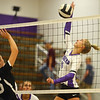 9-3-19<br /> Northwestern vs Clinton Central volleyball<br /> NW's McKenna Layden goes for the kill.<br /> Kelly Lafferty Gerber | Kokomo Tribune