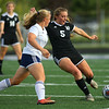 9-28-19<br /> Western vs Central Catholic girls soccer Hoosier Conference Tournament<br /> Western's Brooklyn Garber makes a kick.<br /> Kelly Lafferty Gerber   Kokomo Tribune
