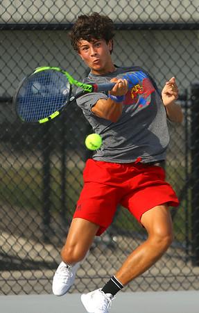 9-10-19<br /> Kokomo vs Maconaquah boys tennis<br /> Kokomo 1 singles Jon Callane<br /> Kelly Lafferty Gerber   Kokomo Tribune