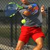 9-10-19<br /> Kokomo vs Maconaquah boys tennis<br /> Kokomo 1 singles Jon Callane<br /> Kelly Lafferty Gerber | Kokomo Tribune