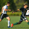 9-26-19<br /> Eastern vs Sheridan boys soccer<br /> Eastern's Lance VanMatre takes control of the ball.<br /> Kelly Lafferty Gerber | Kokomo Tribune