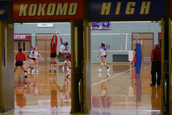 Kokomo High School volleyball team defeats North Miami High School on Sept. 18, 2019.<br /> Tim Bath   Kokomo Tribune