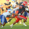 9-13-19<br /> Cass vs Tipton football<br /> Cass' Joey Humphrey looks to outrun Tipton's Jayvin Lyons.<br /> Kelly Lafferty Gerber | Kokomo Tribune