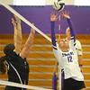 9-3-19<br /> Northwestern vs Clinton Central volleyball<br /> NW's Madison Layden sets the ball.<br /> Kelly Lafferty Gerber   Kokomo Tribune