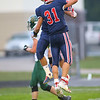 Gabe Eurit and Caden Zeck celebrate after another touchdown as Lewis Cass High School football defeated Benton Central 68-0 on Sept. 6, 2019.<br /> Tim Bath | Kokomo Tribune