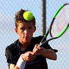 Adam Morrow playing number 2 for Northwestern Tennis against Rochester on Sept. 25, 2019. <br /> Tim Bath | Kokomo Tribune