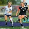 9-28-19<br /> Western vs Central Catholic girls soccer Hoosier Conference Tournament<br /> Western's Samantha Garber makes a kick.<br /> Kelly Lafferty Gerber | Kokomo Tribune