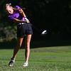 Golf matchup between Northwestern HS and Eastern HS at Green Acres Golf Course on Sept. 5, 2019. Northwestern's Kristin Piel hitting off the tee of the 3rd hole.<br /> Tim Bath | Kokomo Tribune