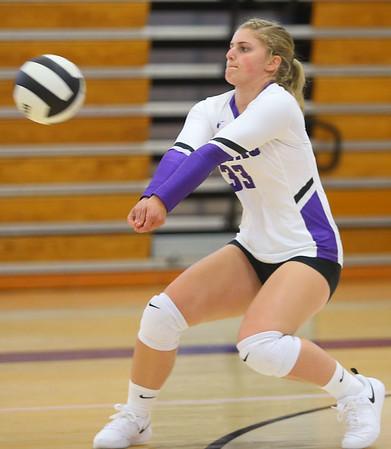 9-3-19<br /> Northwestern vs Clinton Central volleyball<br /> NW's Emma Byrum goes for the dig.<br /> Kelly Lafferty Gerber   Kokomo Tribune