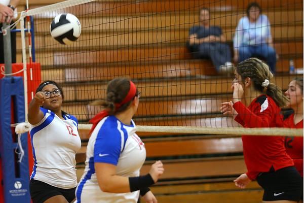 Kokomo High School volleyball team defeats North Miami High School on Sept. 18, 2019.<br /> Tim Bath | Kokomo Tribune