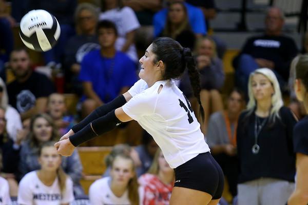 Volleyball between Western HS and Cass HS on Sept. 24, 2019. <br /> Tim Bath | Kokomo Tribune