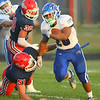 9-13-19<br /> Cass vs Tipton football<br /> Tipton's Jayvin Lyons runs the ball.<br /> Kelly Lafferty Gerber | Kokomo Tribune