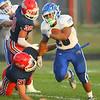 9-13-19<br /> Cass vs Tipton football<br /> Tipton's Jayvin Lyons runs the ball.<br /> Kelly Lafferty Gerber | Kokomo Tribune
