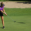 Golf matchup between Northwestern HS and Eastern HS at Green Acres Golf Course on Sept. 5, 2019. Northwestern's Molly Habig putting on the 2nd hole.<br /> Tim Bath | Kokomo Tribune