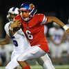9-27-19<br /> Kokomo vs Muncie Central football<br /> Kokomo's Kohl Beard runs the ball.<br /> Kelly Lafferty Gerber | Kokomo Tribune