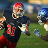 9-13-19<br /> Cass vs Tipton football<br /> Cass' Gabe Eurit carries the ball.<br /> Kelly Lafferty Gerber | Kokomo Tribune