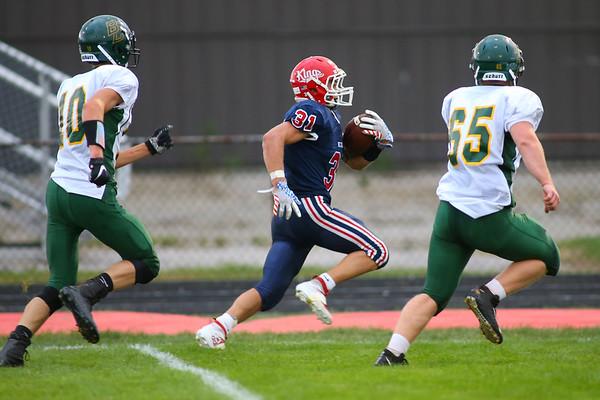Gabe Eurit running for another Cass touchdown as Lewis Cass High School football defeated Benton Central 68-0 on Sept. 6, 2019.<br /> Tim Bath   Kokomo Tribune