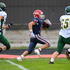 Gabe Eurit running for another Cass touchdown as Lewis Cass High School football defeated Benton Central 68-0 on Sept. 6, 2019.<br /> Tim Bath | Kokomo Tribune